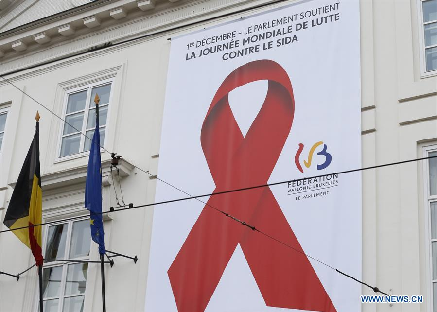 BELGIUM-BRUSSELS-WORLD AIDS DAY